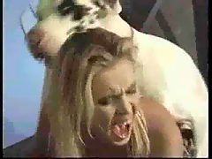 white dog fuck blonde girl